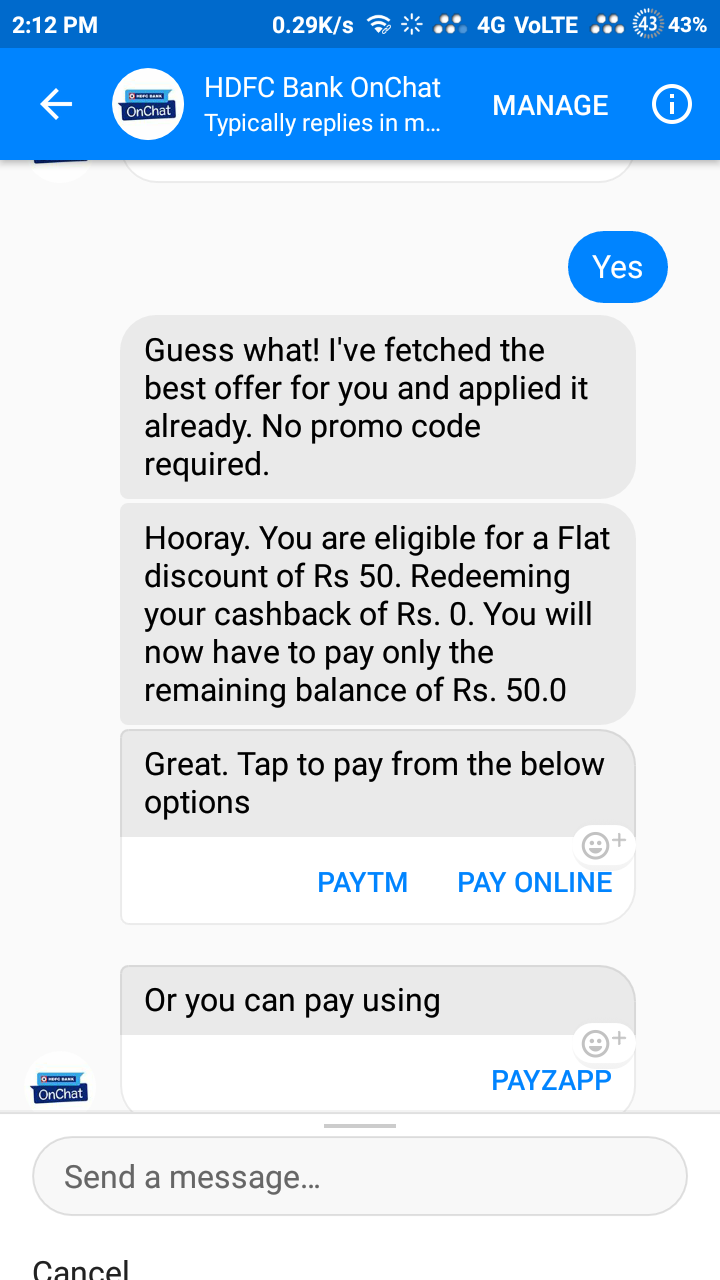 Onchat loot – GET 50rs Discount of every recharge + get 100rs free recharge refer only 2 friends