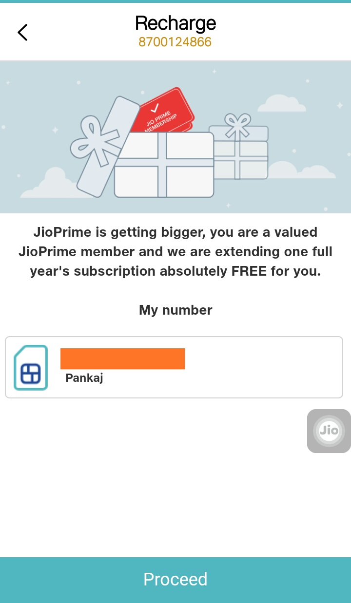 extend Jioprime Service For one year