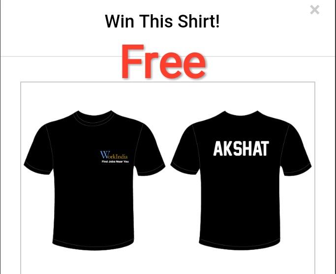 Free T-shirt - Share app with your 10 friends only and get free T-shirt