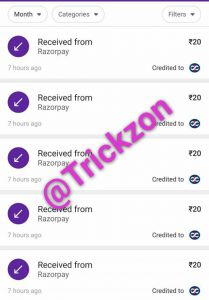 Paytrac app payment Proof